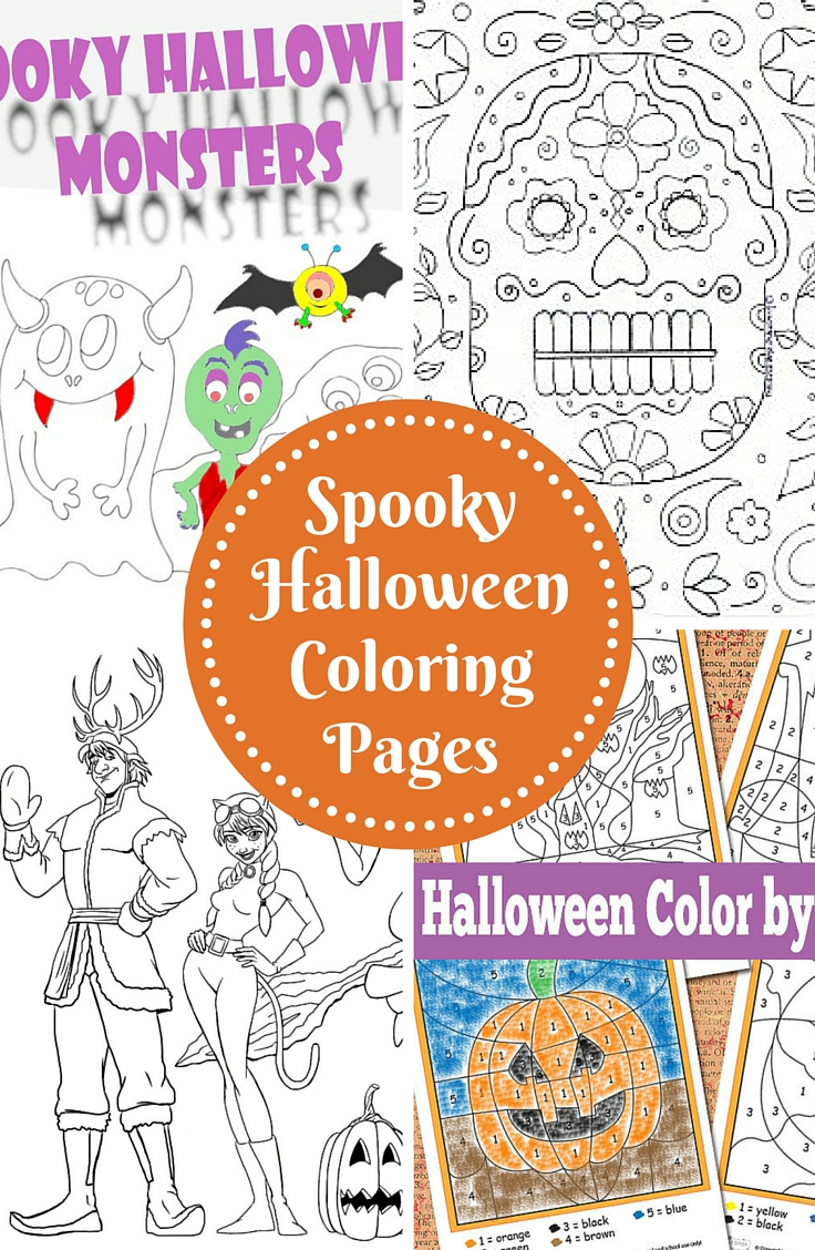 Spooky Halloween Coloring Pages Trail Of Colors