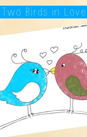 Two Birds Coloring Page For Little Ones