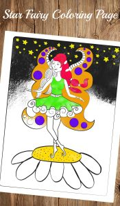 Star Fairy Coloring Page For Adults