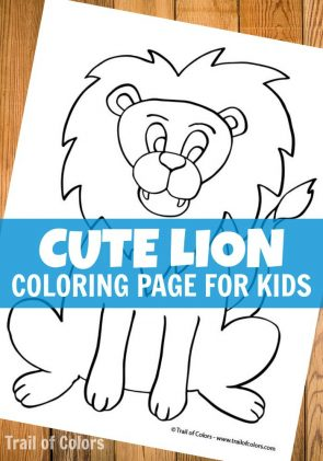 Cute Lion Coloring Page for Kids