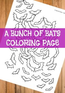 Bat Coloring Page for Adults and Kids