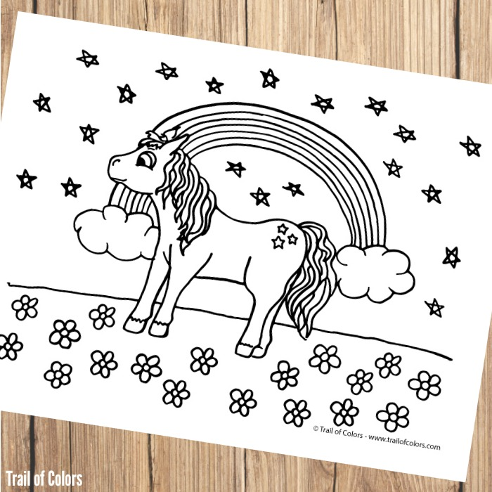 Pony Coloring Page for Kids