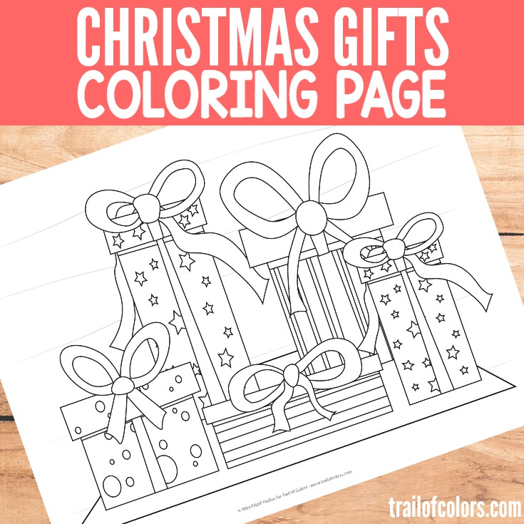 Christmas Gifts Coloring Page for Little Ones