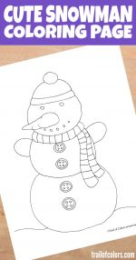 Snowman Coloring Page for Your Little Ones