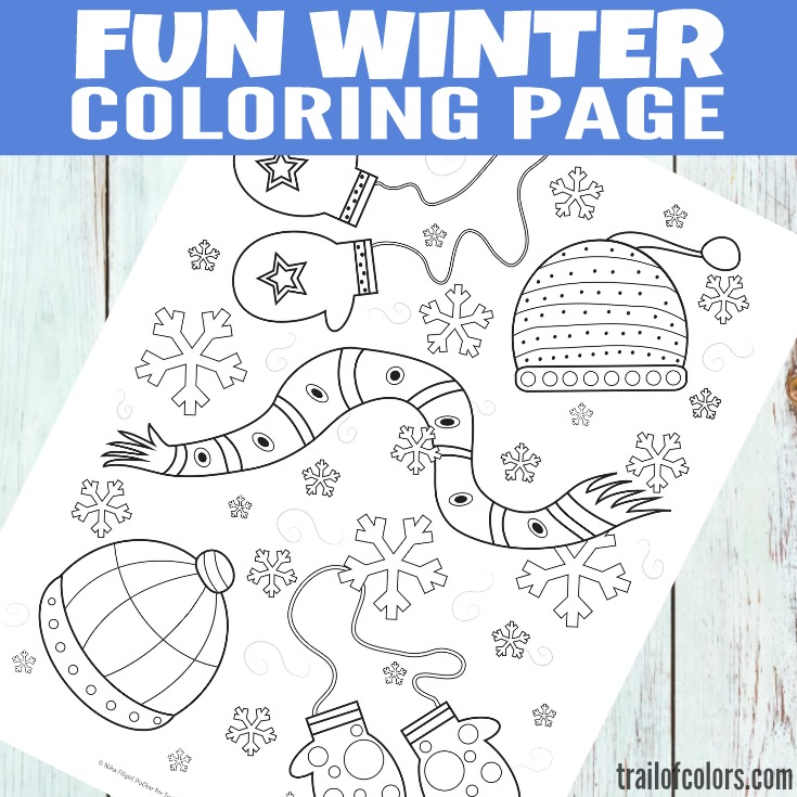 Fun Winter Coloring Page for Kids