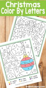 Christmas Color by Letter – Ornaments and Gingerbread Man
