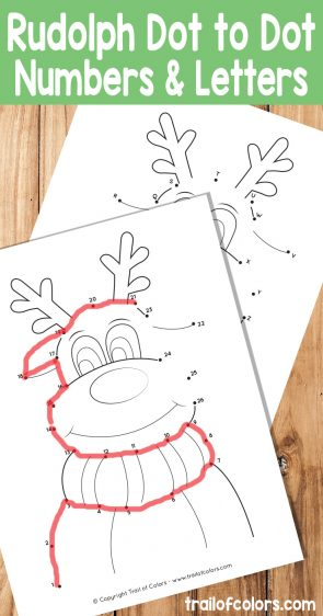Christmas Dot to Dot Reindeer