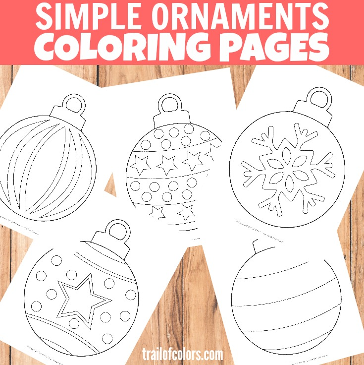 Christmas Ornaments Coloring Page for Kids