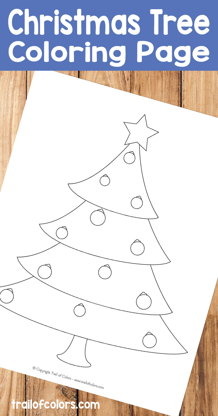 Christmas Tree Coloring page for Kids