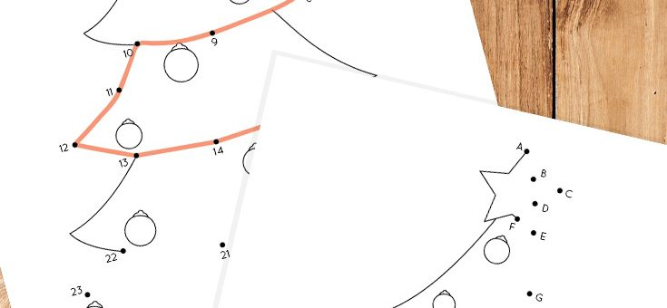 Christmas Tree Dot to Dot Coloring Page for Kids