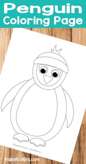Easy Penguin Coloring Page