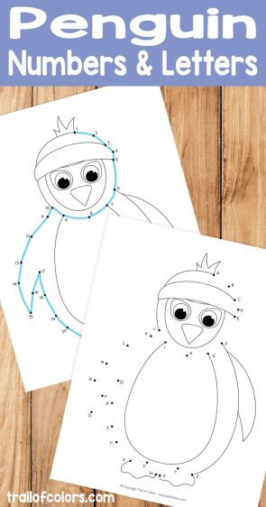 Penguin Dot-to-Dot Worksheets - Numbers from 1 to 26 and Alphabet