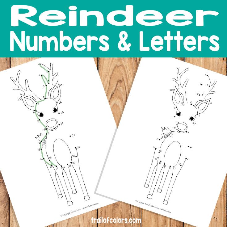 Reindeer Dot to Dot