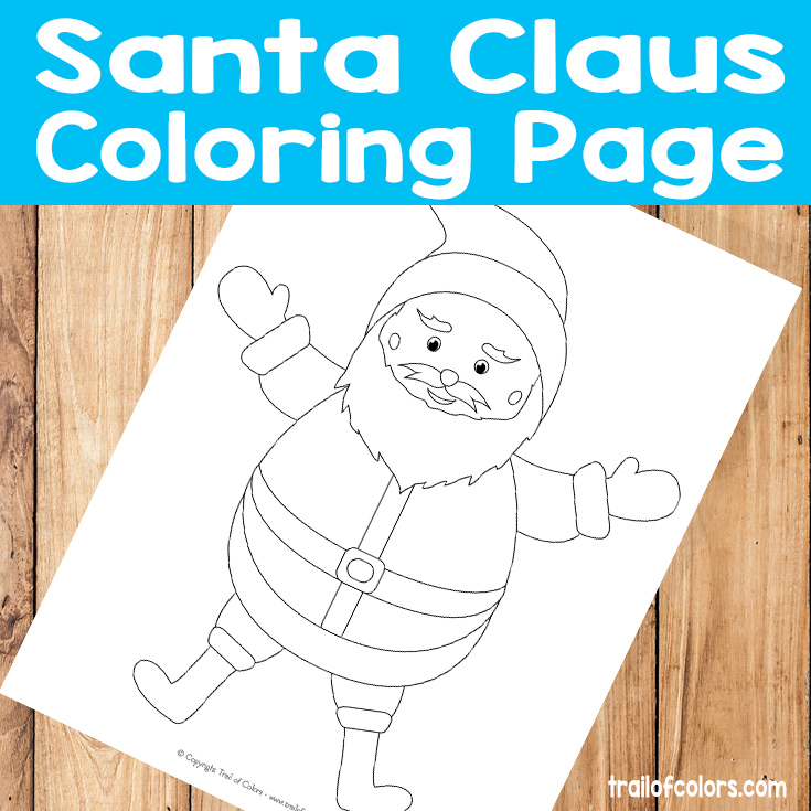 Adorable Santa Coloring Page