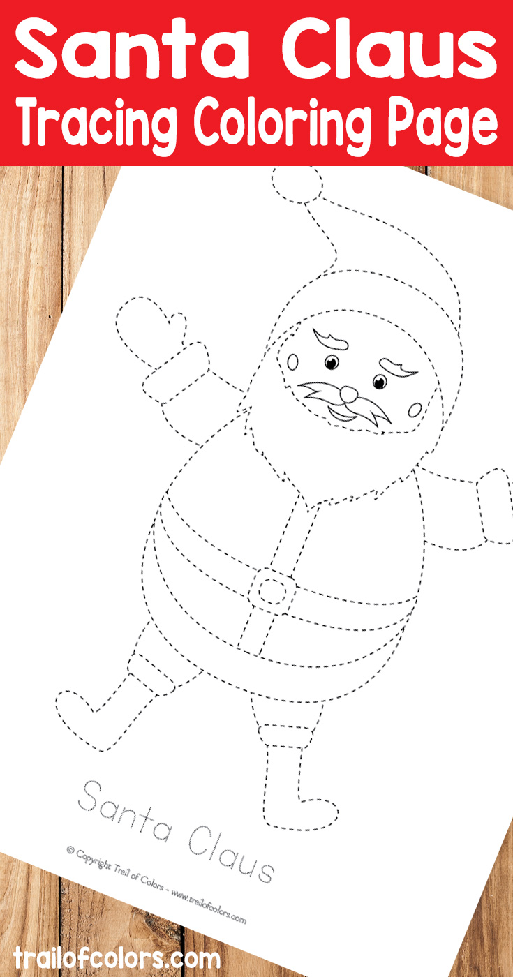 Grab This Cute Santa Tracing Coloring Page for Kids