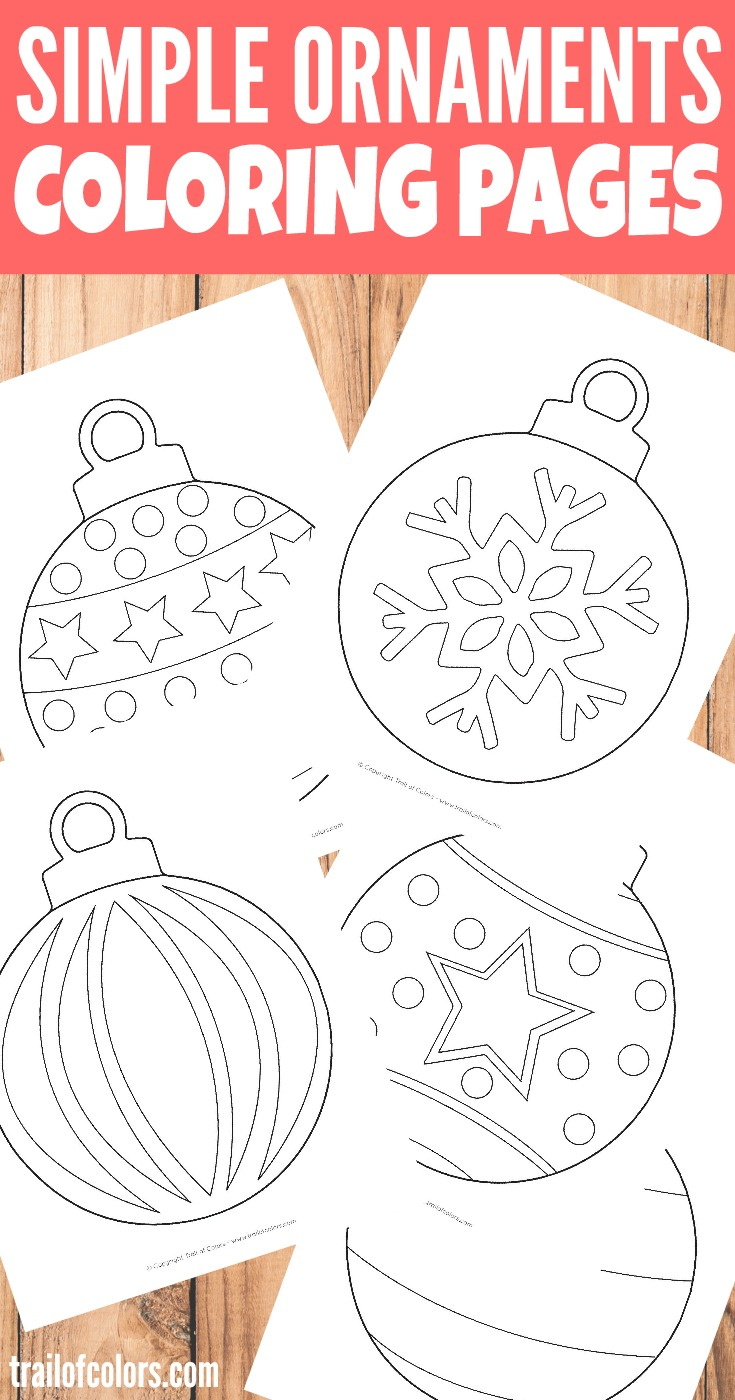 - Simple Christmas Ornaments Coloring Page For Kids - Trail Of Colors