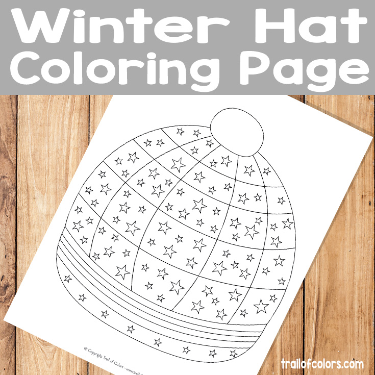 Winter Hat Coloring Page for Kids