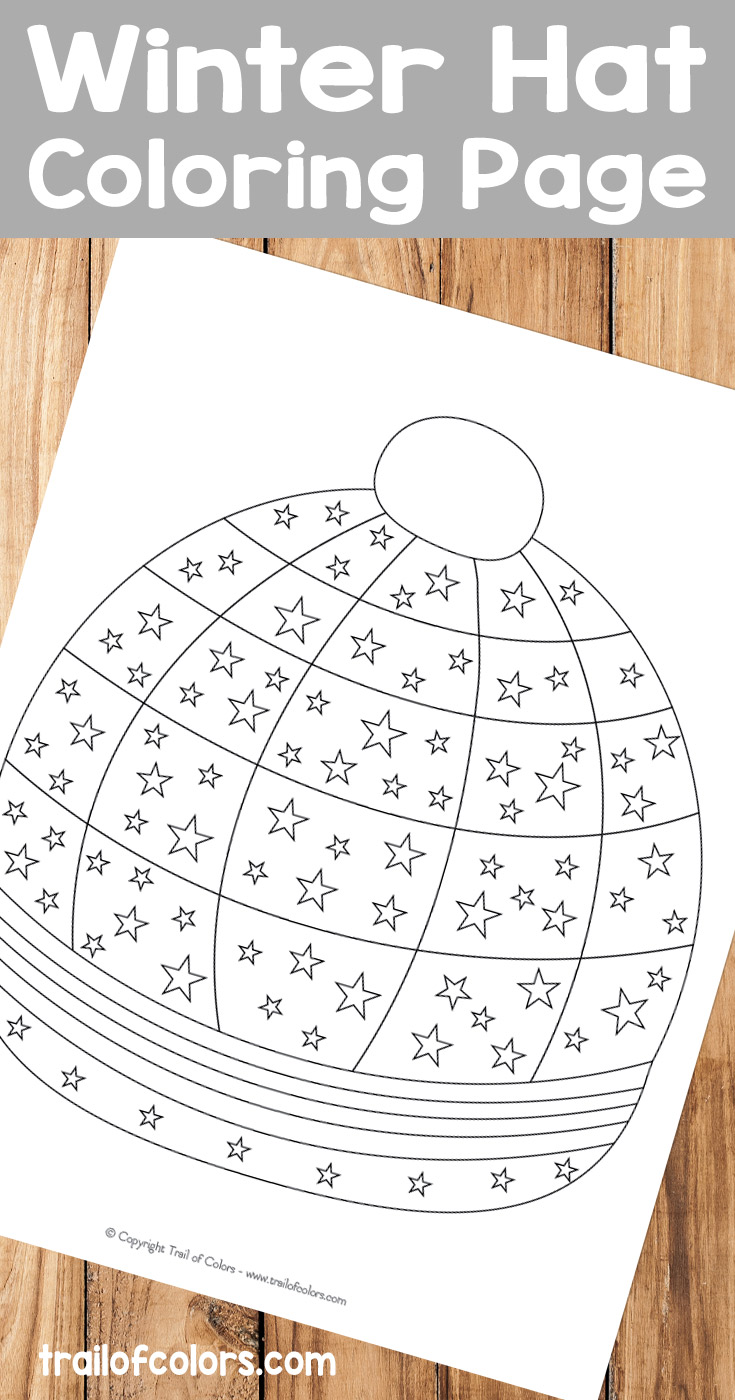 Winter Hat Coloring Page - Trail Of Colors