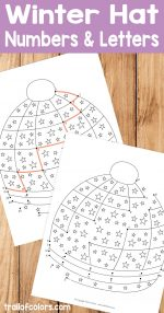 Winter Hat Connect the Dots – Dot to Dot Worksheets