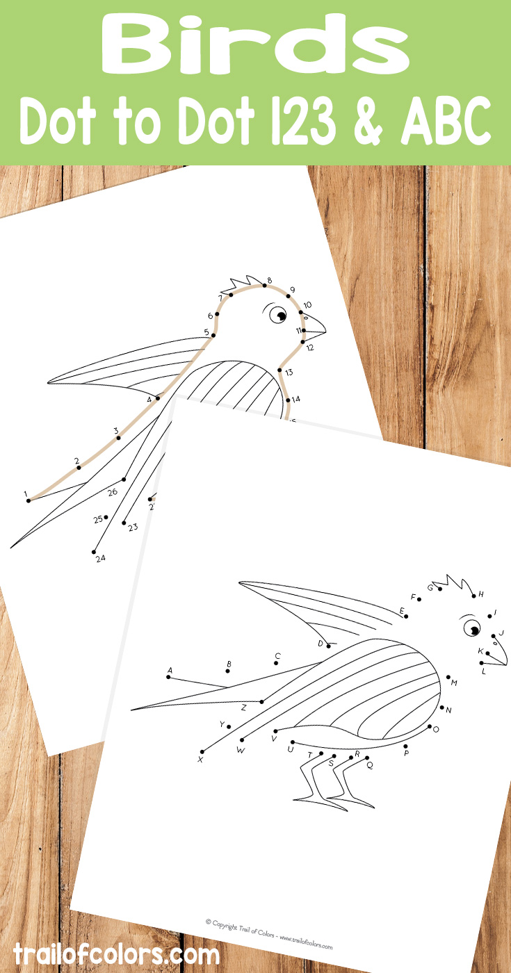 Printable Dot to Dot Bird Coloring Pages