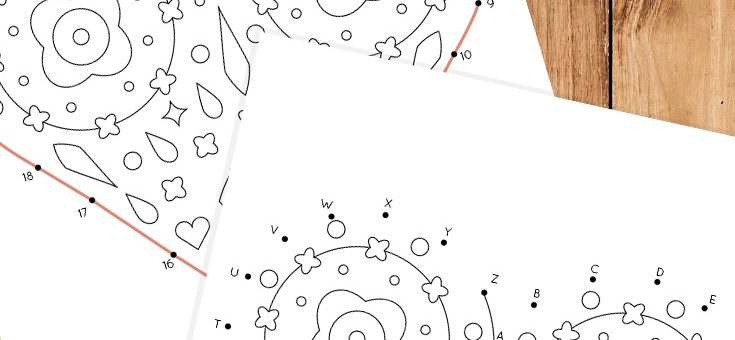 Hearts Dot to Dot Coloring Page for Kids