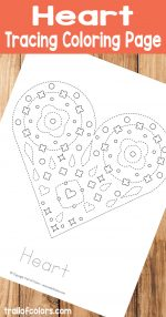 Fun Heart Tracing Coloring Page for Kids