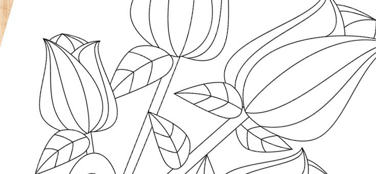 Free Printable Roses Coloring Page