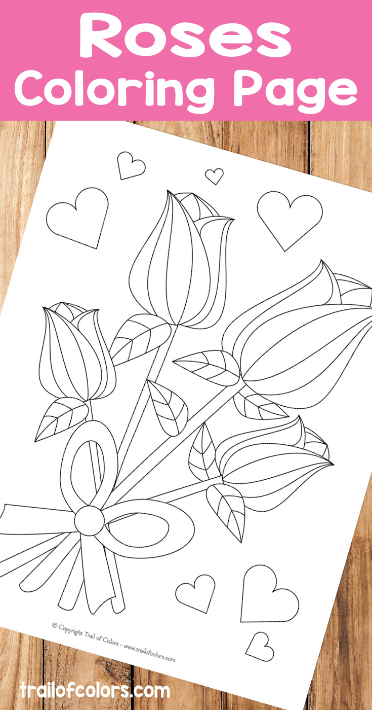 Free Printable Roses Coloring Page - Trail Of Colors