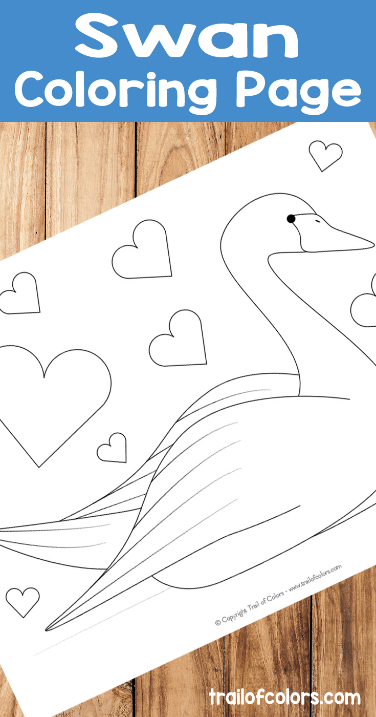 Free Printable Swan Coloring Page