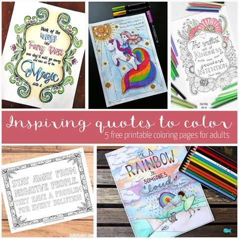 Quote Coloring Page For Grown Ups - Trail Of Colors