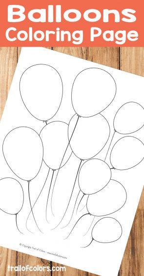 Free Printable Balloons Coloring Page for Kids