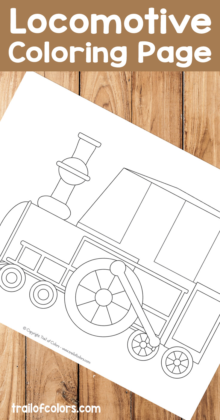 Free Printable Locomotive Coloring Page
