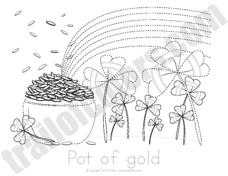Pot of Gold Tracing Worksheet