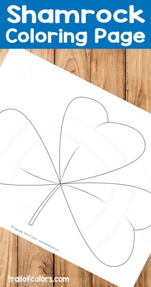 Shamrock Coloring Page for Kids
