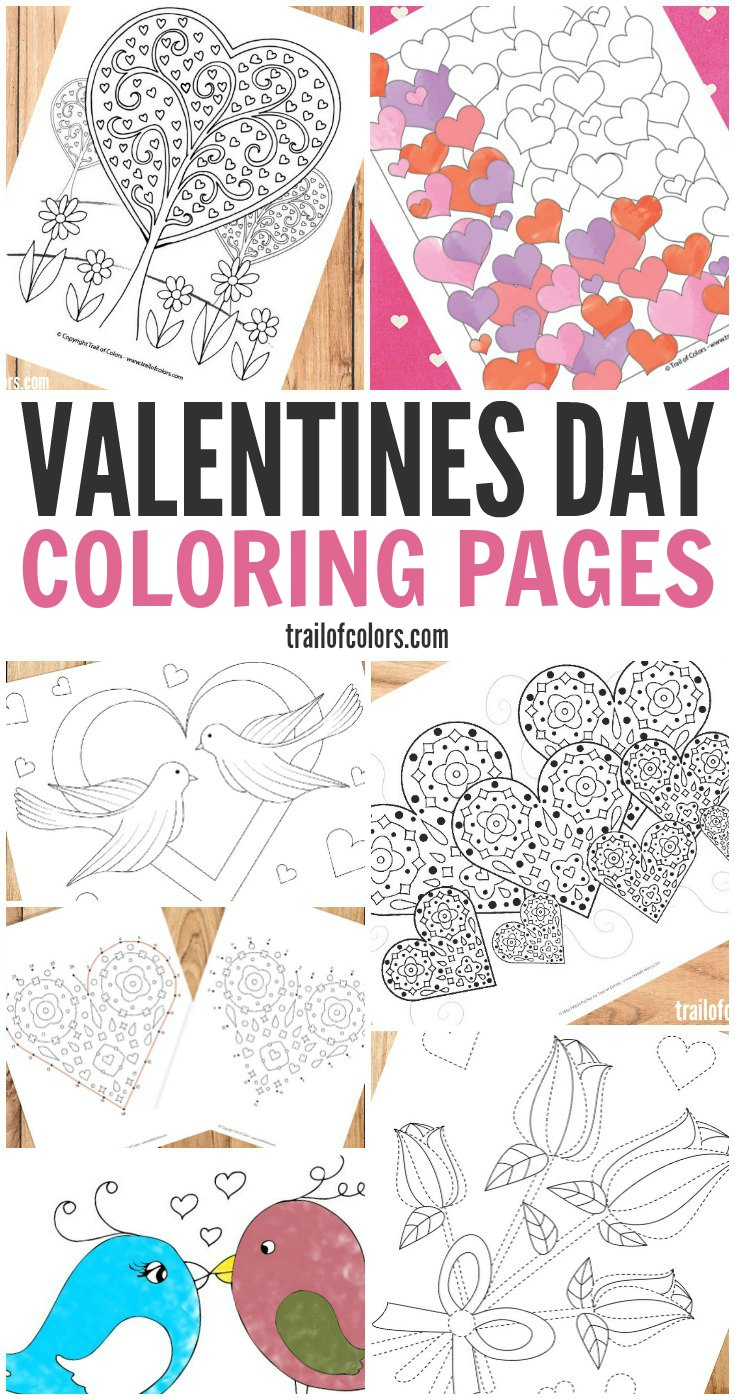 Valentines Day Coloring Pages for Grown Ups and Kids