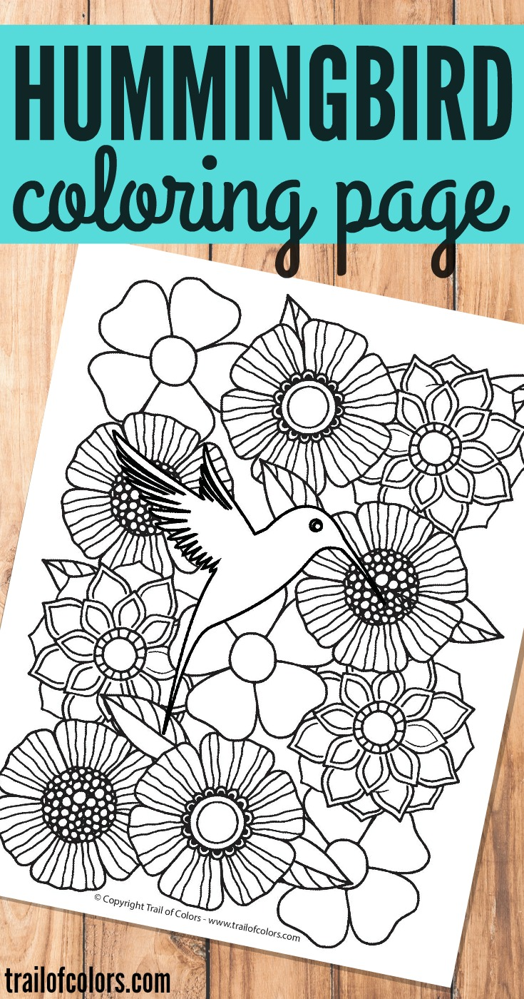 Free Printable Hummingbird Bird Coloring Page for Grown Ups