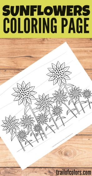 Lovely Sunflowers Coloring Page