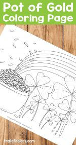 Free Pot of Gold Coloring Page for Kids