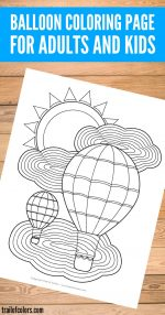 Balloon Coloring Page for Adults and Kids