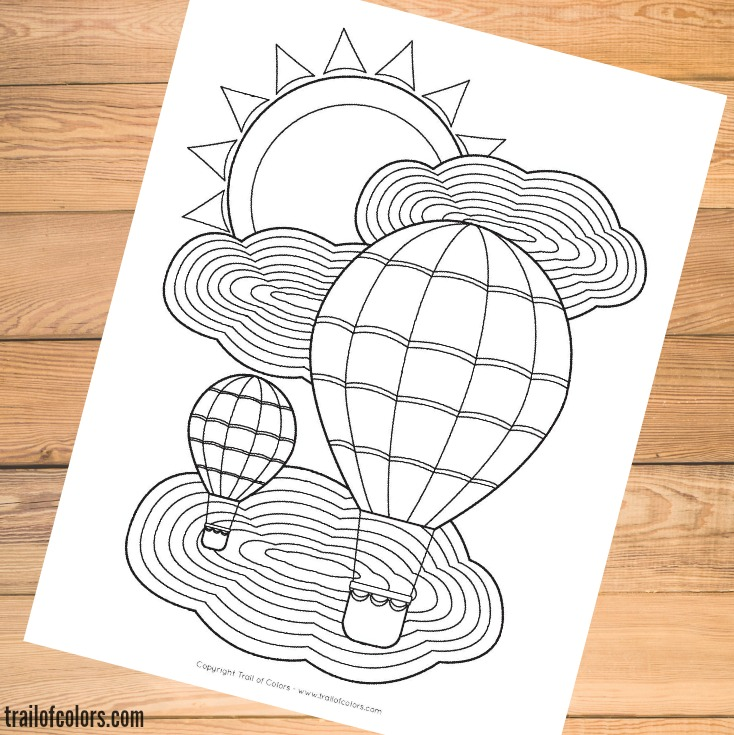 Free Balloon Coloring page for Grown Ups and Kids